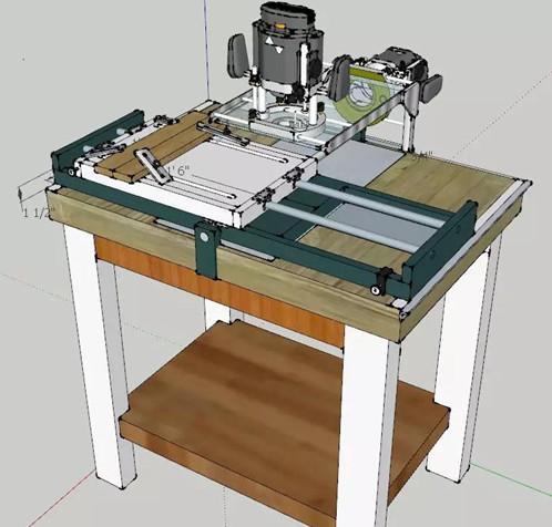 电木铣正装侧装双合一工作台,带横向和纵向工作台实现全方位移动