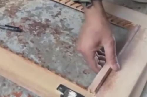 现场打造安装实木柜门