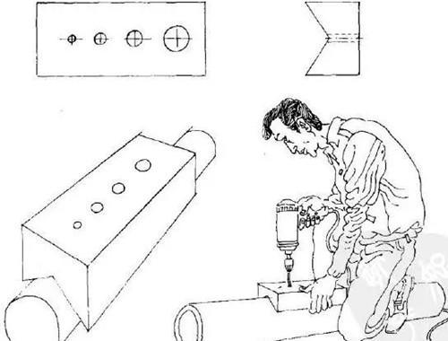 简易木工圆棒钻孔夹具